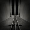 Flux III (Jeff Gaydash) Tags: longexposure bridge blackandwhite abstract architecture night square structure symmetry flux tilt merge