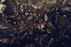 Battle Diorama (Garret Voight) Tags: minnesota fight war roman military battle soldiers diorama newulm hermannmonument