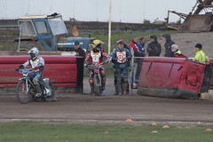 Entering the Circuit (Richard Amor Allan) Tags: bike mud bikes cycle stokeontrent rider speedway cycles riders motorcyles scunthorpesaints tomyoung stokepotters loomerroad garyirving stokeeasyriderpotters