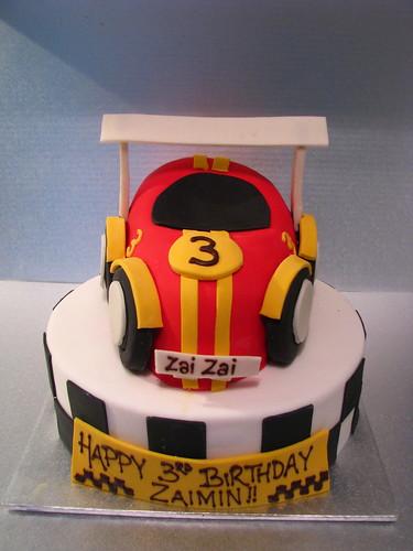 Racecar 3rd birthday cake