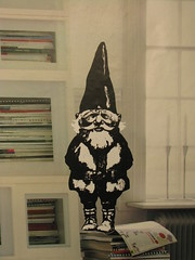 Underground Gnome [detail] (The Great Slug) Tags: street streetart milan art ikea station gnome sticker metro milano tube rien poortvliet