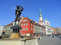 Old Market Square and City Hall in Poznan, Poland (Frans.Sellies (off for a while)) Tags: germany square deutschland poland polska an polen tyskland allemagne polonia duitsland rynek pozna poznan posen pologne   polsko   almanya niemcy  poljska polonya  pholainn    anpholainn     sam0948