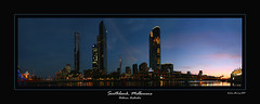South Bank, Melbourne (Andrew Fleming Photography) Tags: sunset night landscape australia melbourne andrew southbank yarra crown eurekatower fleming crowncasino yarrariver freshwaterplace andrewfleming crowntowers