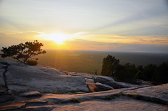 Sunset from Stone Mountain (BlakeLewisPhotography) Tags: stone mountain exotic land atlanta georgia beautiful deep south birds zoo giraffe turtkes tigers orangatangs wild snakes venom deadly creepy sunset boats water sky carolina awesome