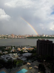 Rainbow Over Harlem (david55king) Tags: usa newyork newjersey harlem manhattan hudson cliffsidepark david55king