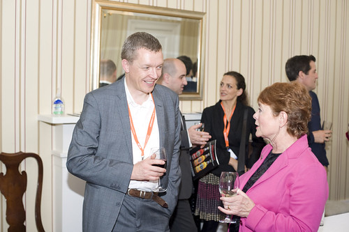 Ken Hay and Elaine Oswald at the US Consulate Reception