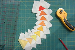 CIMG3707 (Curly_Boy) Tags: paper flying geese quilt foundation fabric curved piecing