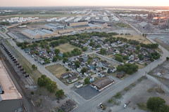 Marktown, Indiana Aerial (metroblossom) Tags: industrial dusk indiana aerial helicopter bp juxtaposition residential whiting marktown howardvandorenshaw northwestindiana img5686 northwesternindiana