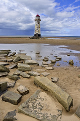 Point of Ayr Lighthouse (Etrusia UK) Tags: ocean uk greatbritain sea summer sky people cloud lighthouse beach pool weather wales geotagged puddle concrete sand nikon rocks britishisles zoom unitedkingdom britain stones horizon cymru footprints windy bluesky pebbles atlantic f16 gb beaches ripples fullframe dslr fx damp d800 flintshire talacre oldbridge nikkorlens 2485mm nikonlens talacrebeach nikon2485mm nikkor2485mm nikond800 nikon2485mmlens pontofayr 2485mmlens nikkor2485mmlens geo:lat=5335633763028671 geo:lon=33219426164246215
