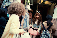 Harajuku bunny (Alex Robertson) Tags: street people rabbit bunny fashion japan tokyo asia candid character style curls ears personality harajuku  takeshita