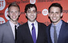 Justin Paul, Peter Duchan and Benj Pasek After party celebrating the New York premiere of 'Dogfight', held at HB Burger New York City, USA � 16.07.12 Mandatory Credit: Joseph Marzullo/WENN.com