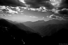 Lost in Black.... Explored (aleemsm) Tags: sky bw clouds landscape outdoors bhutan hills