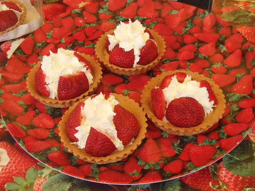 Strawberry Tarts at Gloucester Food Festival - July 2012