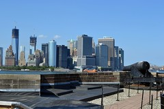 Lower Manhattan skyline from atop the Castle Williams (RealMattKane) Tags: nyc newyork governorsisland lowermanhattan freedomtower castlewilliam