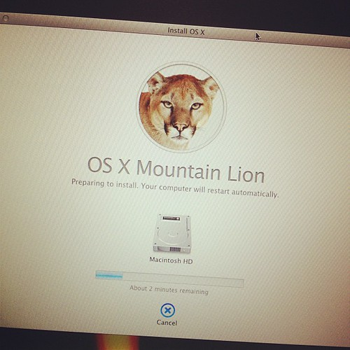 Installing OS X Mountain Lion, any feature you are specifically excited about? #osx #mountainlion #apple #mac #os #osxmountainlion #update #operatingsystem #app #appstore