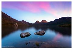 Cradle Mountain (Bibinjac) Tags: park winter sunset mountain lake focus dove group national tasmania cradle