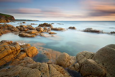 Nanven (Paul Newcombe) Tags: uk longexposure sunset sea england southwest water coast countryside cornwall atlantic le british milky goldenhour haida cornish sidelight ndfilter nanven porthnanven 10stop tenstop