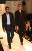 Antonio Valencia (L) and Federico Macheda Manchester United football players pose on the catwalk during a Hublot Charity Dinner and Fashion Show event in aid of the MU Foundation at Shangri-La Hotel Shanghai, China