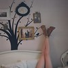 Sparrow Legs (Rick Nunn) Tags: old tree film girl leather gold us bed chair legs boots map tan vinyl rick pillow sparrow frame pentacon nunn spadge