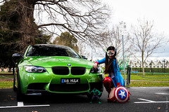 Superpowered (Tom | Fraser) Tags: green awesome melbourne captain bmw hulk m3 captainamerica thehulk bmwm3 javagreen mscc tomfraser captainamericagirl t0m722 melbournesupercarclub