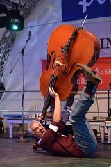 Crazy Bass Player - Explored 17.07.2016 (chrissie.007) Tags: musiker bass live rocknroll musik konzert kontrabass bhnenshow 20160716 citytreffwinnenden thebangbags