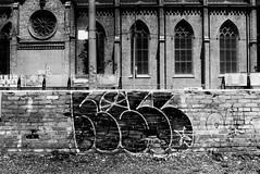 writing.on.the.wall (jonathancastellino) Tags: leica toronto church window wall architecture circle graffiti construction ruins downtown cathedral ruin across parsonage shuter stmichaelscathedral