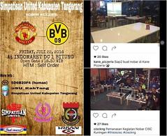 Lokasi Nobar: Buat kalian fans #Manutd kawasan #Bitung Kab #Tangerang bisa datengin #nobar @SU_Kabtang ke Indomaret DC 1 Bitung besok Jumat. #ManchesterUnited akan meladeni #borussiadortmund dalam #ICC2016. Foto lain dari @kane_pizzeria dan @cisckng. (lokasinobar) Tags: barcelona madrid city milan roma liverpool indonesia manchester real bayern la football chelsea soccer united bola arsenal serie juventus tottenham inter bareng psg liga epl suporter persija lokasi nonton persib a sepakbola nobar arema kuliner nonbar