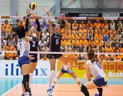 27252317 (roel.ubels) Tags: volleybal volleyball nederland oranje holland zuidkorea southkorea rotterdam topsportcentrum sport topsport 2016
