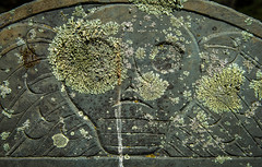 In the 4 Year of His Age (Rodney Harvey) Tags: cape cod massachusetts cemetery headstone skull death head lichen ancient time dead wings graveyard burying ground