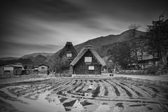 Shirakawa-go ([~Bryan~]) Tags: shirakawago worldheritagesite heritage village ancient old reflection daytimelongexposure longexposure ndfilter architecture japan nagoya bw blackandwhite mono monochrome