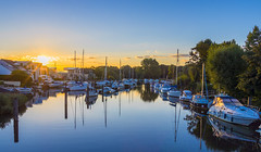 River Reflections (nicklucas2) Tags: sunrise sun reflection river stour boat yacht water