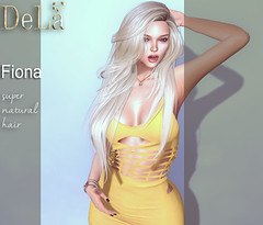 """=DeLa*= new hair """"Fiona"""" (=DeLa*=) Tags: dela hair fitted mesh materials new secondlife secondlifefashion sl slhair style uber"""