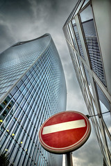 No Entry (adrians_art) Tags: city london uk england walkietalkie noentry sky clouds urban buildings architecture reflections windows light dark structures