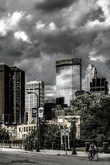 CITY SKY DRAMA (panache2620) Tags: drama dramatic sky storm clouds eos canon canon70d selectivecolor urban minneapolis minnesota