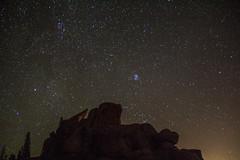 Vedauwoo Night 4 (PhotoStorm22) Tags: wy wyoming vedauwoo stars night sky rock rocks rockformation rockformations clamshell