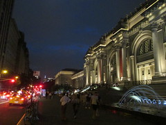 Metropolitan Museum of Art Night Fountains 5047 (Brechtbug) Tags: metropolitan museum art lobby exterior facade front entrance stairs outside building new york city summer 09102016 nyc cityscape east skyline urban afternoon july 2016 arts gallery buildings sculpture architecture statue crowd crowds met museums manhattan uptown 5th ave fifth avenue arch arches nite night time evening fountain fountains