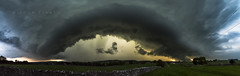 Monyash shelf cloud, Peak District. (John Finney) Tags: extremeweather shelfcloud weather hp supercell england mad panoramic