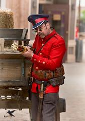 Steampunk - Age of Empires 736 (thePhotographerRaVen) Tags: steampunk tucson oldtucson arizona wwwc wwwc5 wildwest fantasy cwis gatlinggun pistol uniform photosbyraven
