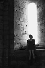 Sainte (Mr.Totoxo) Tags: abbaye catholique portrait sarah nanteuil visite imagevole contraste blackandwhite pierre lieuetrange etrange gh4 25mm 50mm lumix
