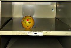 ,W. (byzantiumbooks) Tags: reddot yellow w wiffle golfball