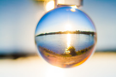 _MG_0371-2 (AdamFejes) Tags: glass globe glassglobe pointofview light sun summer blackandwhite bw colour city budapest danube sunset