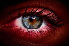 devil's eye (rondoudou87) Tags: eye oeil red contrast pentax k1 macro close rouge saturation devil