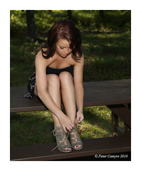 More Mikaela (Peter Camyre) Tags: peter camyre photography quabbin reservoir mikaela female model modeling pose posing fun casual outdoor photoshoot canon shoes feet legs tie tying girl beautiful lady ef2470mmf28liiusm canoneos5dmarkiii