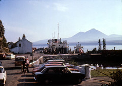 MV Arran Port Askaig Islay 1971 (shipcard) Tags: macbrayne portaskaig isleofislay mvarran ferry westhighland scotland mvsoundofgigha westernferries