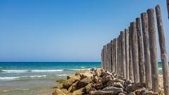 Mediterranean sea II (Quique CV) Tags: beach sea mediterranean sand mar mediterraneo coast valencia costa spain stones rocas perellonet summer verano