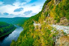 Twist & Turn (Firoz Ansari) Tags: road delaware newyork landscape mountain river foliage