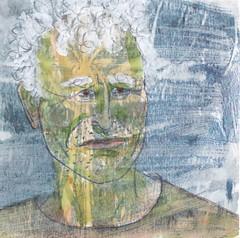 # 239 (26-08-2016) (h e r m a n) Tags: herman illustratie tekening bock oosterhout zwembad 10x10cm 3651tekenevent tegeltje drawing illustration karton carton cardboard portrait portret