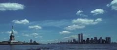 WTC 212 (stevensiegel260) Tags: worldtradecenter towers twintowers statueofliberty newyorkskyline manhattanskyline newyork 1990s clouds