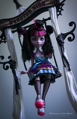 Mad Circus (dancingmorgana) Tags: darculaura circus repaint ooak doll monstehigh monster high freak du chic crazy mad