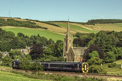 Stow Scottish Borders (Colin Myers Photography) Tags: bordersrailway borders railway scottishborders train scenic rail way scotland scottish stow stmarywedale wedale st mary stmary church countryside beautiful s colinmyersphotography colin myers photography
